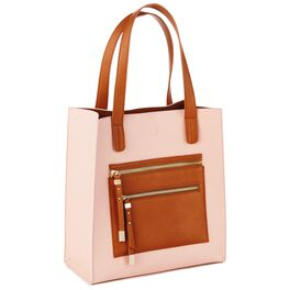 Mark & Hall Blush Colorblock Tote, , large
