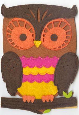 Felt Owl Musical Birthday Card