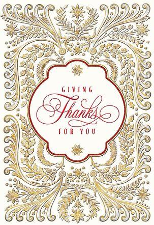 Giving Thanks for You Christmas Card