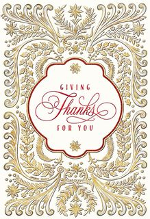 Giving Thanks for You Christmas Card,