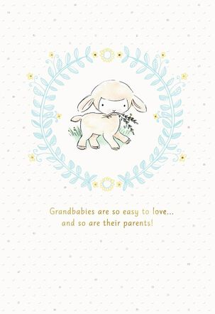 Little Lamb New Baby Card from Grandparents