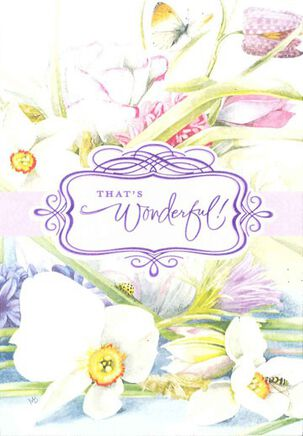 Marjolein Bastin Springtime Floral Congratulations Card