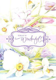 Marjolein Bastin Springtime Floral Congratulations Card,