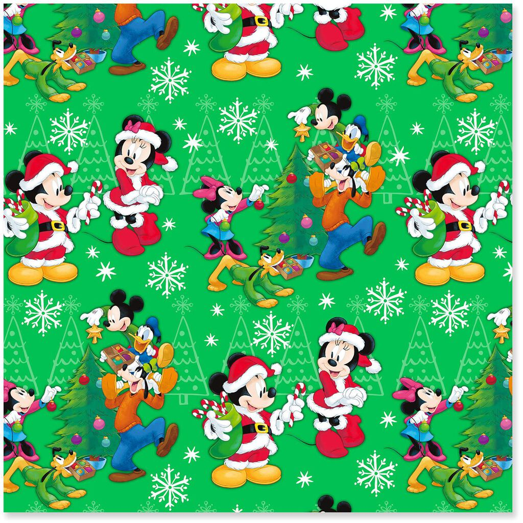 Disney Mickey Mouse and Friends Jumbo Christmas Wrapping Paper Roll ...
