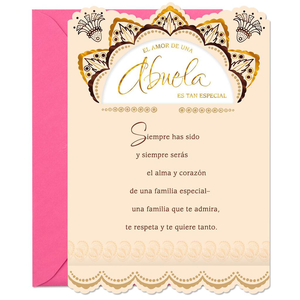 Legacy Of Your Love Spanish Language Birthday Card For Grandmother