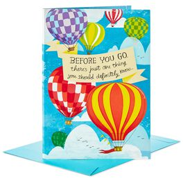 "You'll Be Missed Hot Air Balloon Decoration Jumbo Goodbye Card, 16"", , large"