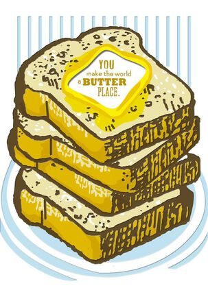 Toast and Butter Just Because Card