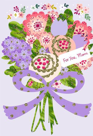 God's Pure Love Flower Bouquet  Easter Card for Mom