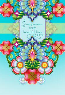 Catalina Estrada Strong Women Floral Mother's Day Card,