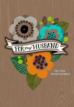 Straight from the Heart Husband Anniversary Card