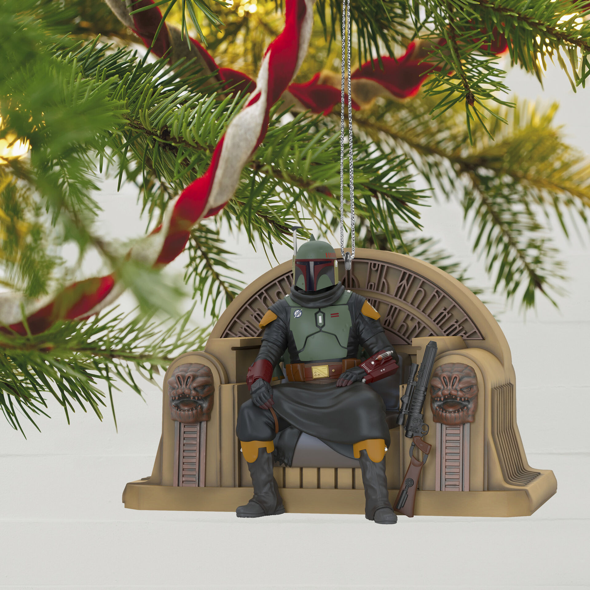 2020 Hallmark Disney Star Wars Boba Fett Helmet Glass Christmas Tree Ornament