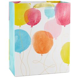 "Watercolor Balloons Large Gift Bag, 13"", , large"