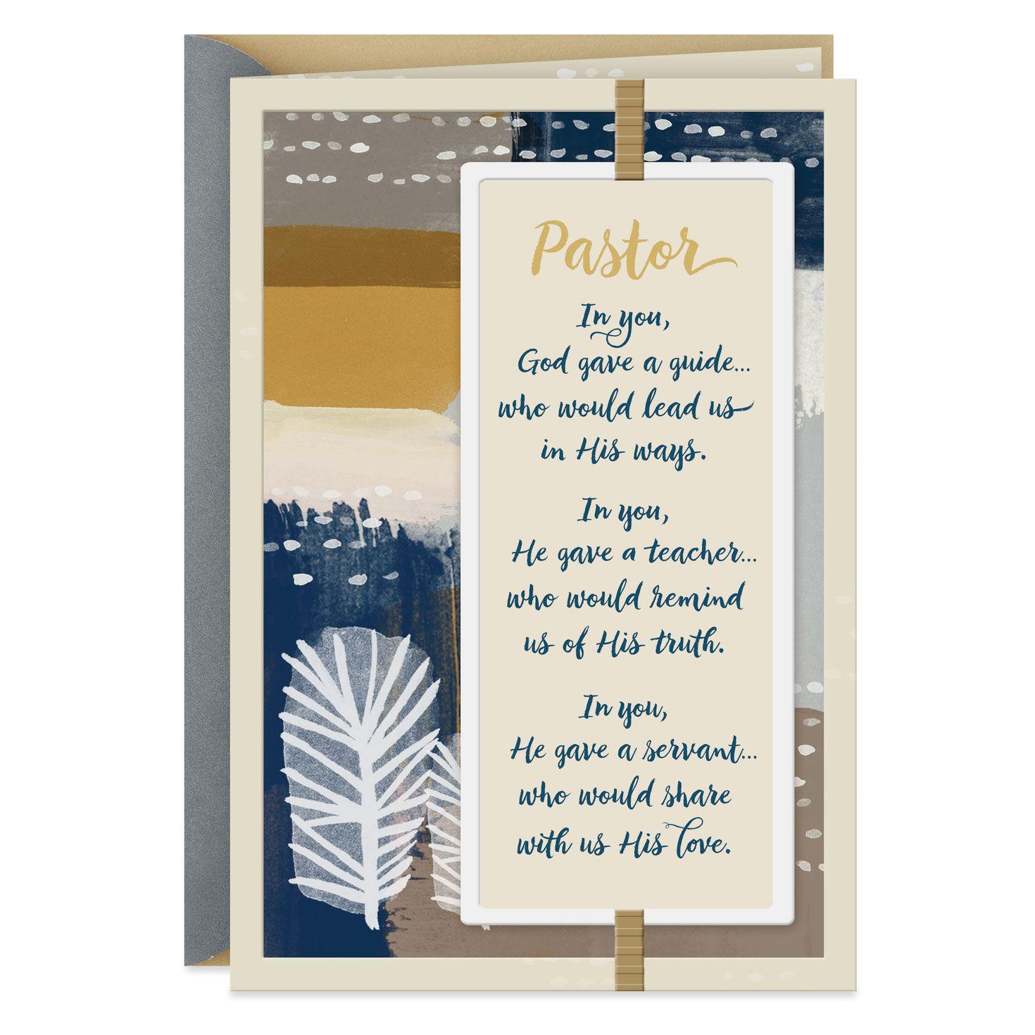 image about Pastor Appreciation Cards Free Printable named Clergy Pastor Appreciation Hallmark