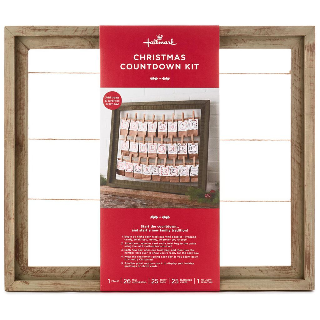 Framed Christmas Countdown Kit and Card Holder - Decorative ...
