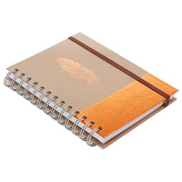 Copper Feather Spiral Journal, , large