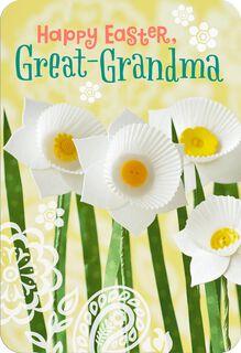 Paper Daffodils Easter Card for Great-Grandma,
