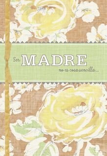 Motherhood Isn't Easy Religious Spanish-Language Mother's Day Card,