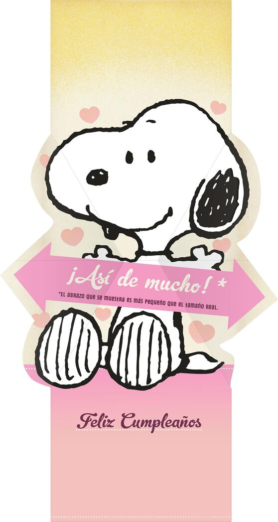 Peanuts Snoopy And Woodstock Spanish Language Pop Up Birthday Card