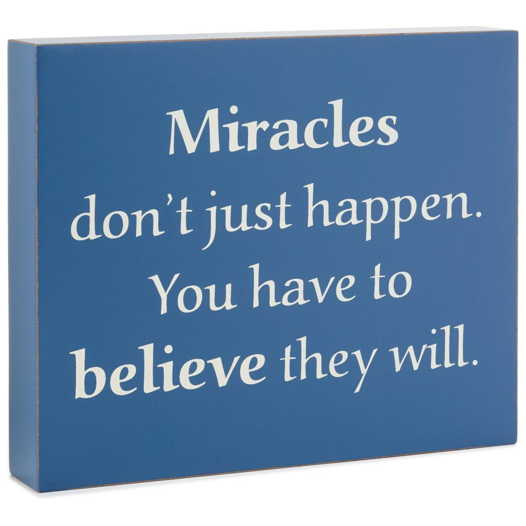 Believe In Miracles Wood Quote Sign 7x6 Plaques Signs Hallmark