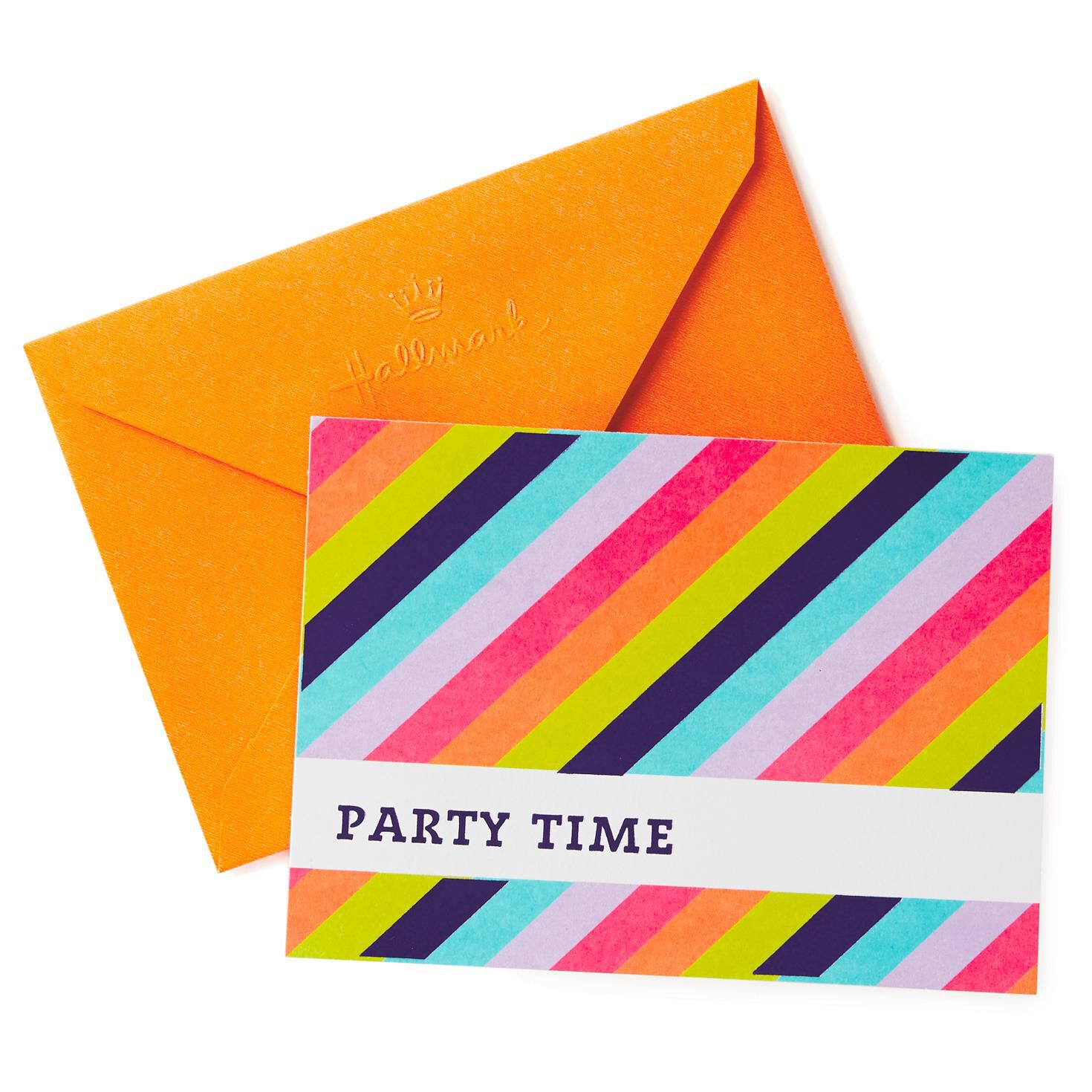 Striped Party Time Invitations, Pack of 10 - Invitations - Hallmark