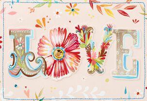 Paper Flowers Blank Card