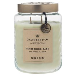 Crafters & Co. Refreshing Sage Candle, 22-oz, , large