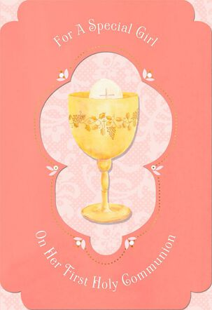 Blessings for a Special Girl Holy Communion Card