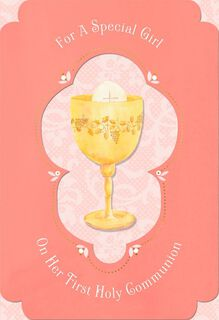 Blessings for a Special Girl Holy Communion Card,