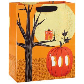 "Owl and Pumpkin Large Halloween Gift Bag, 13"","
