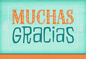 Many Thanks Spanish-Language Thank You Card