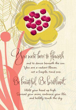 Radiant Flourish Birthday Card