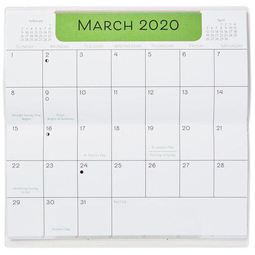 flowers monthly calendar planner 2019 2020 calendars hallmark