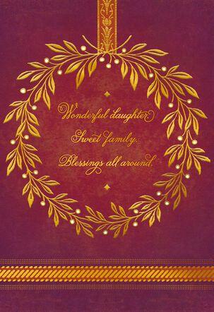 Wonderful Daughter, Sweet Family Thanksgiving Card