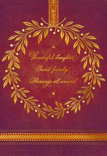 Wonderful Daughter, Sweet Family Thanksgiving Card,