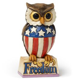 Jim Shore Mini Patriotic Owl Figurine, , large