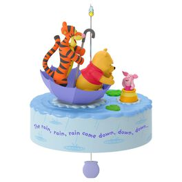 Winnie the Pooh A Blustery Day Musical Ornament With Motion, , large