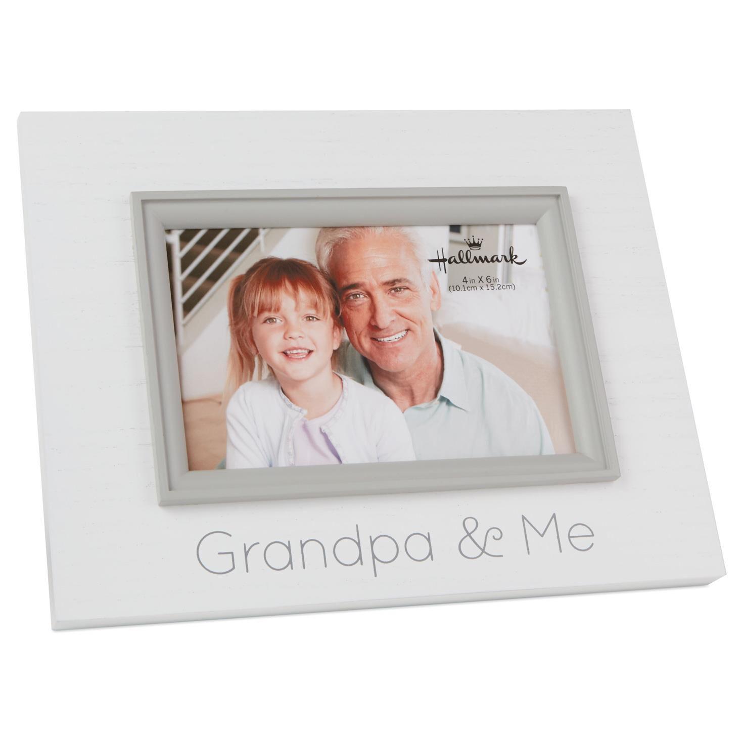 grandpa and me wood photo frame 4x6
