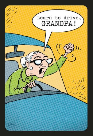 Granny Driver Funny Birthday Card