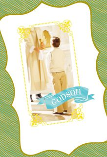 Jesus Loves You First Communion Card for Godson,