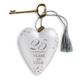 "25 Years of Love Art Heart Sculpture, 4"", , large"