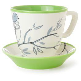 Bird Teacup and Saucer Set, , large
