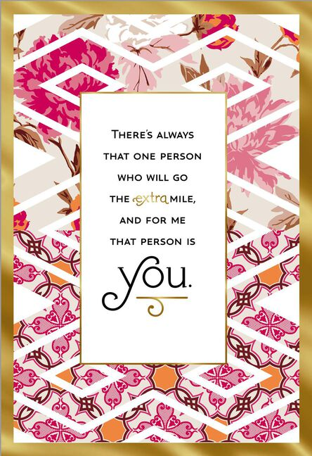 You Go The Extra Mile Thank You Card Greeting Cards Hallmark