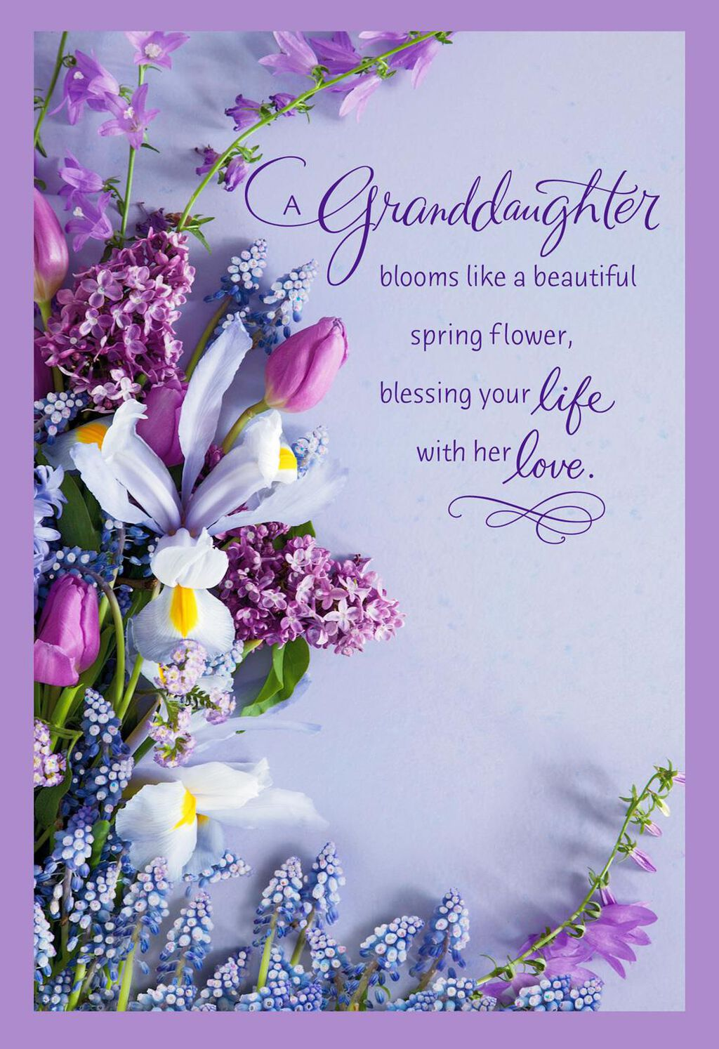 Beautiful Spring Flower Bouquet Easter Card for Granddaughter ...