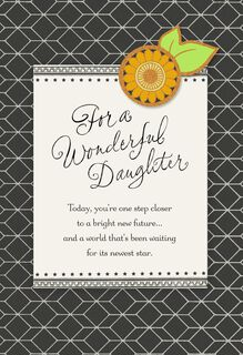 Sunflower Graduation Card for Daughter,