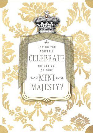 Mini Majesty Baby Shower Card