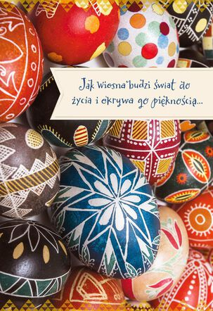 Jak Wiosna Budzi Polish-Language Easter Card