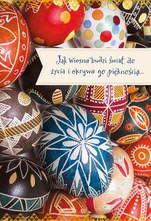 Jak Wiosna Budzi Polish-Language Easter Card,