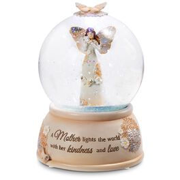 Light Your Way Every Day Mother Angel LED Musical Water Globe, , large