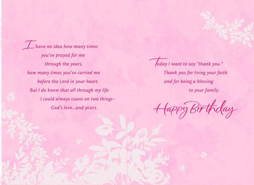 Thank You For Your Prayers Grandmother Religious Birthday Card