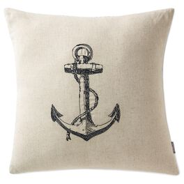 Cedar Cove Embroidered Anchor Pillow, , large